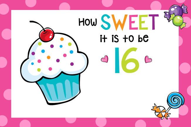 Personalized Sweet 16 Birthday Party Invitations
