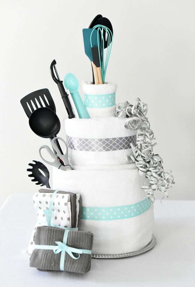Towel Cake DIY Bridal Shower Gift