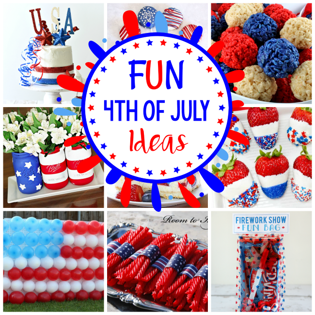 4th of July Party Ideas for Food, Desserts, Decorations, Party