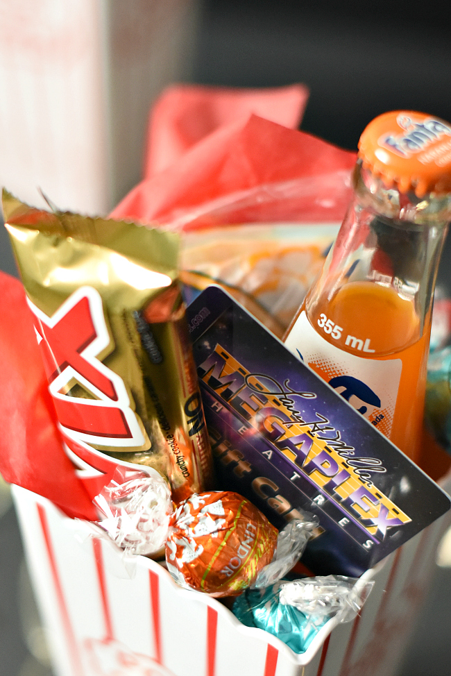 How to make Movie Night Gift Baskets