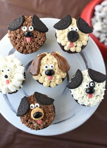 Puppy Cupcakes for Kids Birthdays