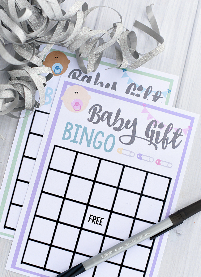 Free Printable Baby Shower Bingo Game Cards