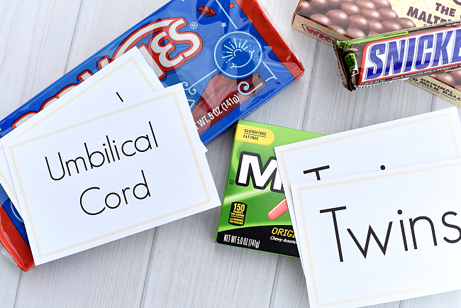 Baby Shower Candy Bar Matching Game
