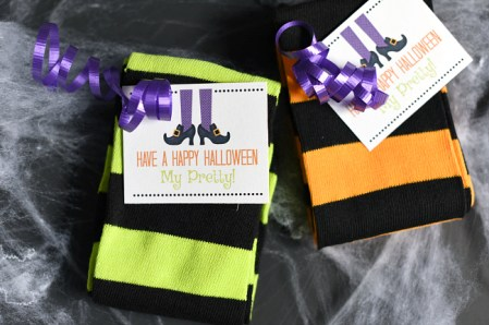 Cute Witch Socks Halloween Gift