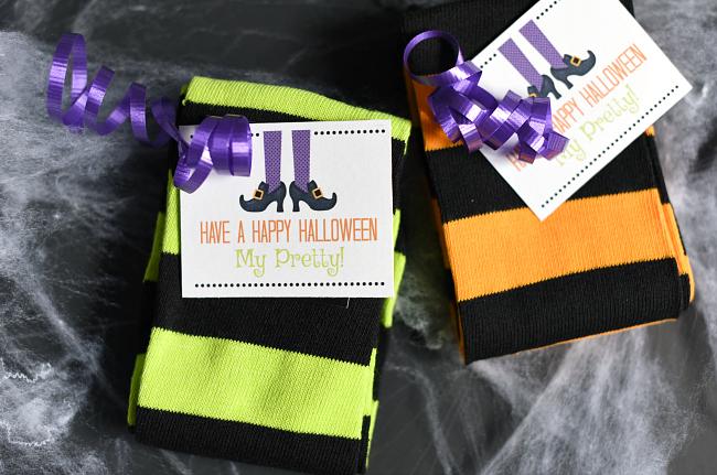 Cute Witch Socks Halloween Gift