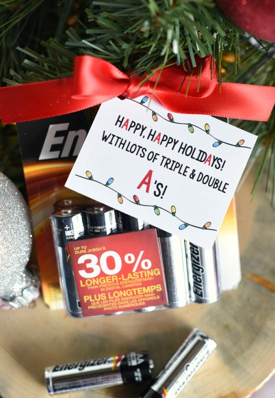 Super Simple Battery Neighbor Gift Idea