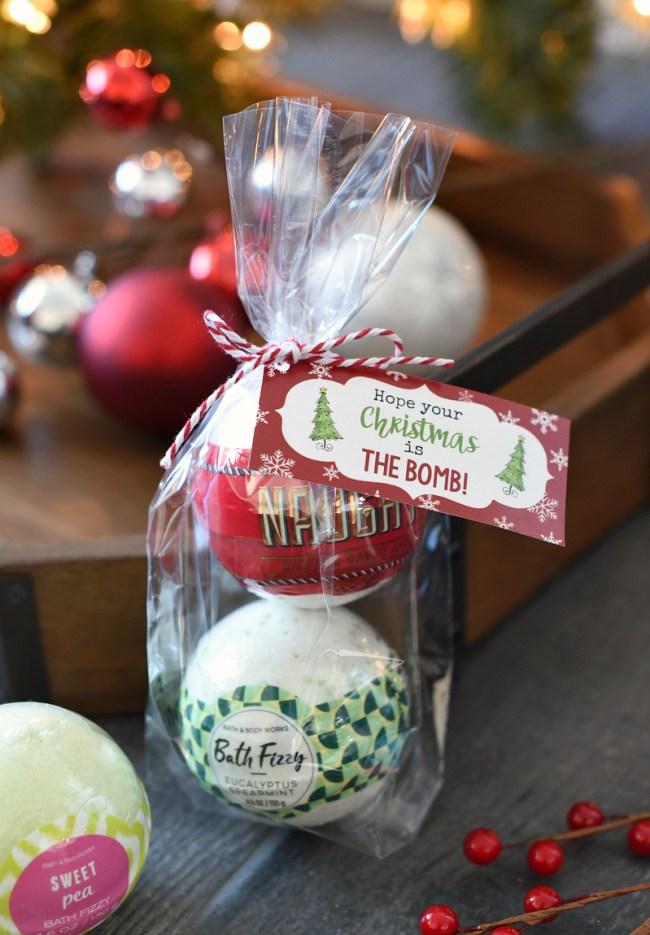 Bath Bombs Christmas Gift Idea for Friends