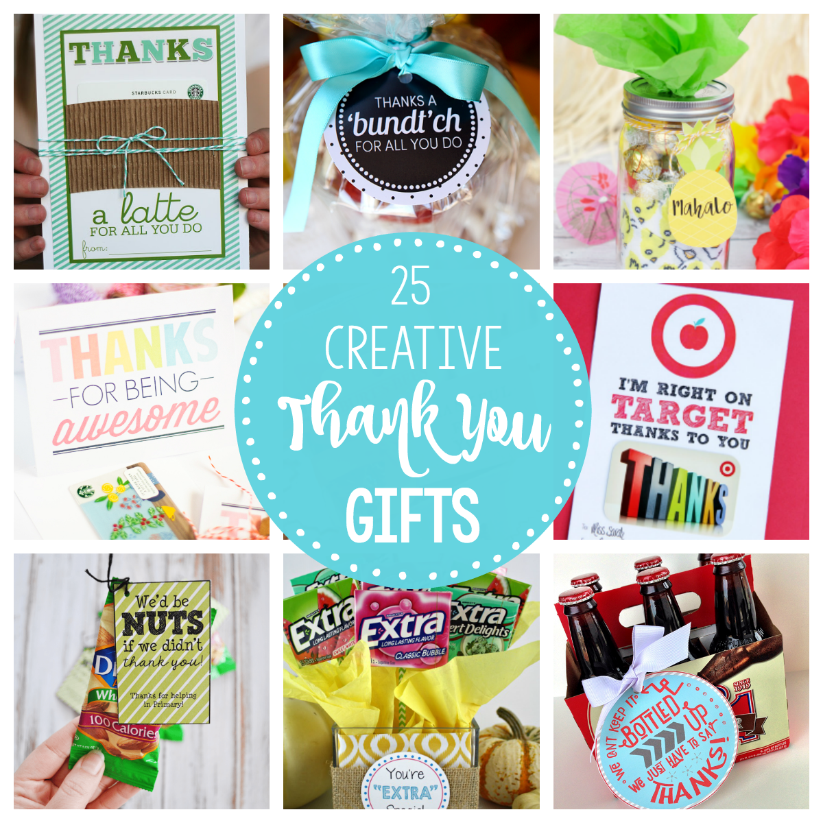 25 Fun Creative and Unique Thank You Gifts for Friends, Coworkers and Family
