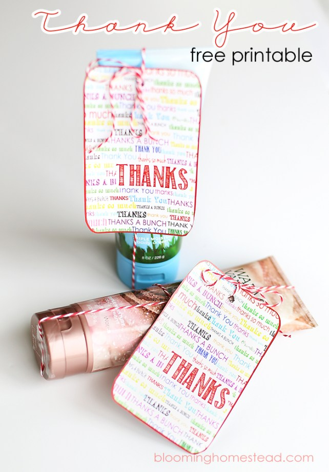 Free Printable Thank You Note