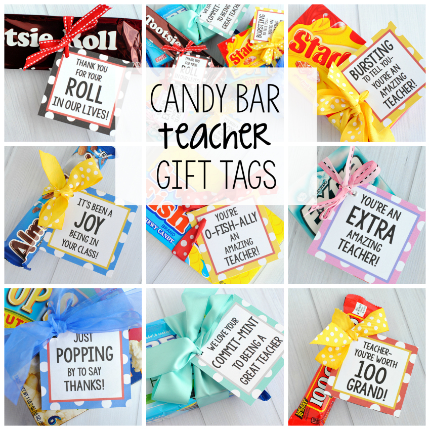 Teacher Appreciation Gifts Candy Bar Gift Tags Fun Squared