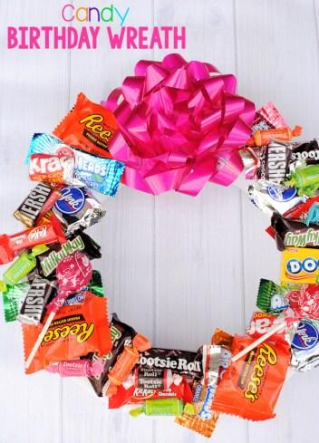 Candy Wreath for Birthdays
