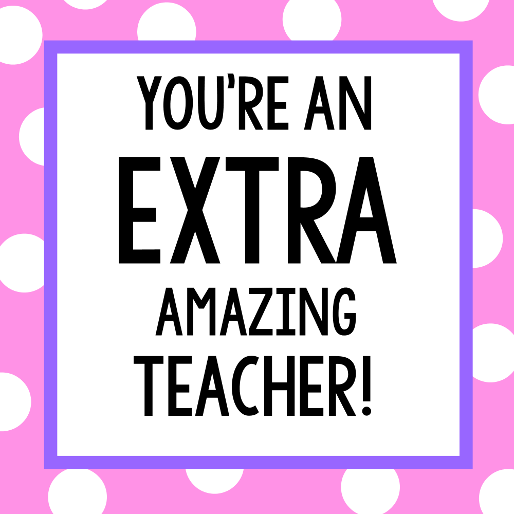photograph relating to Extra Gum Teacher Appreciation Printable called Instructor Appreciation Items-Sweet Bar Present Tags Pleasurable-Squared