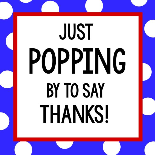 Popcorn Gift Tag
