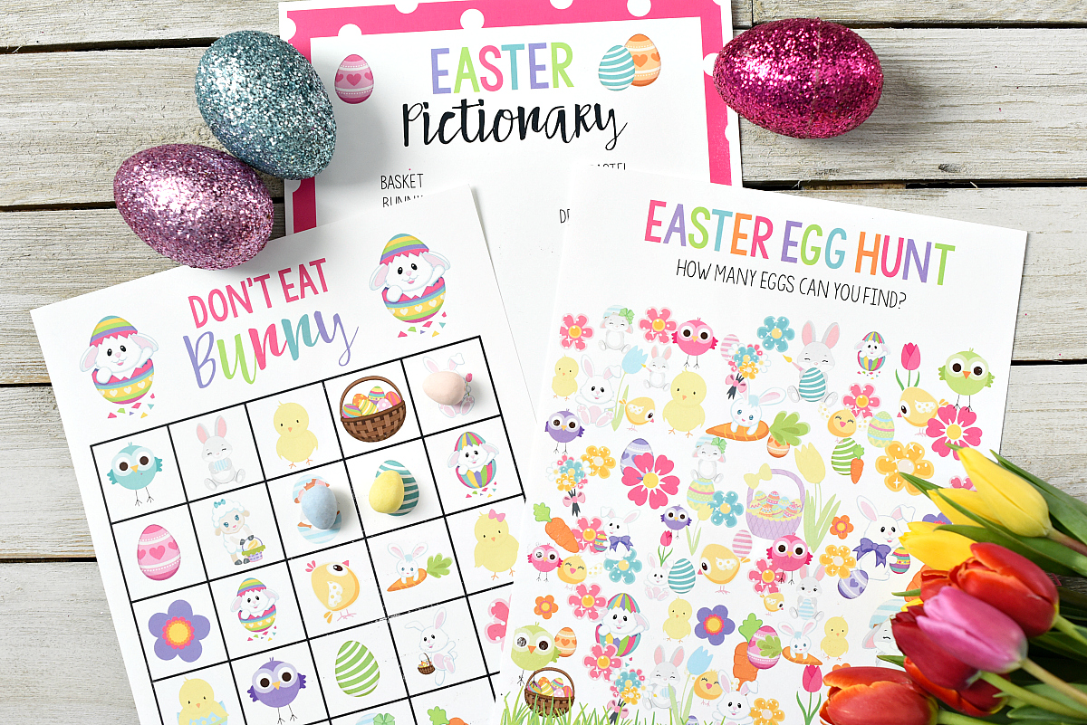 photo relating to Fun Printable Games referred to as Totally free Printable Easter Game titles for Little ones Exciting-Squared