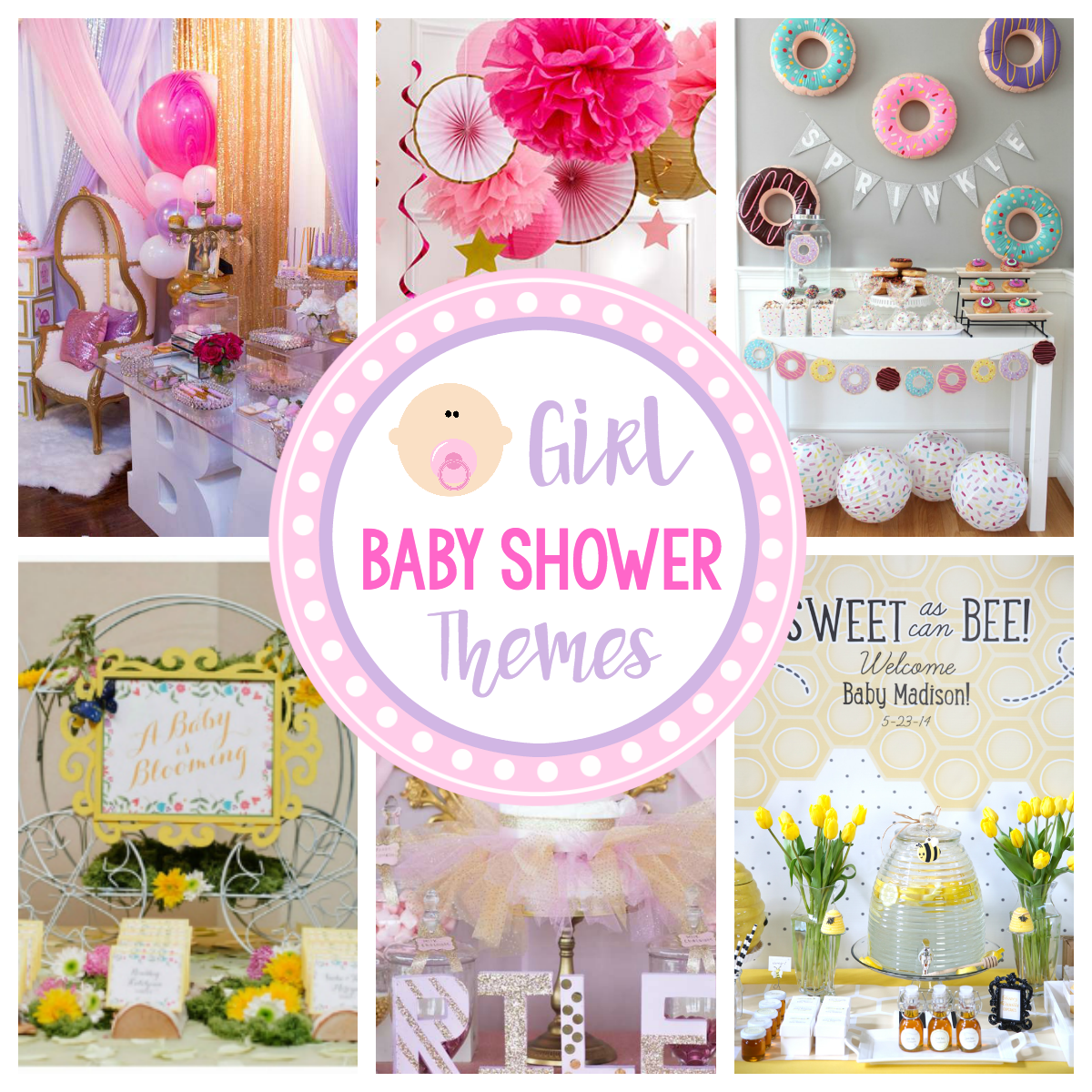 Cute girl baby shower themes ideas