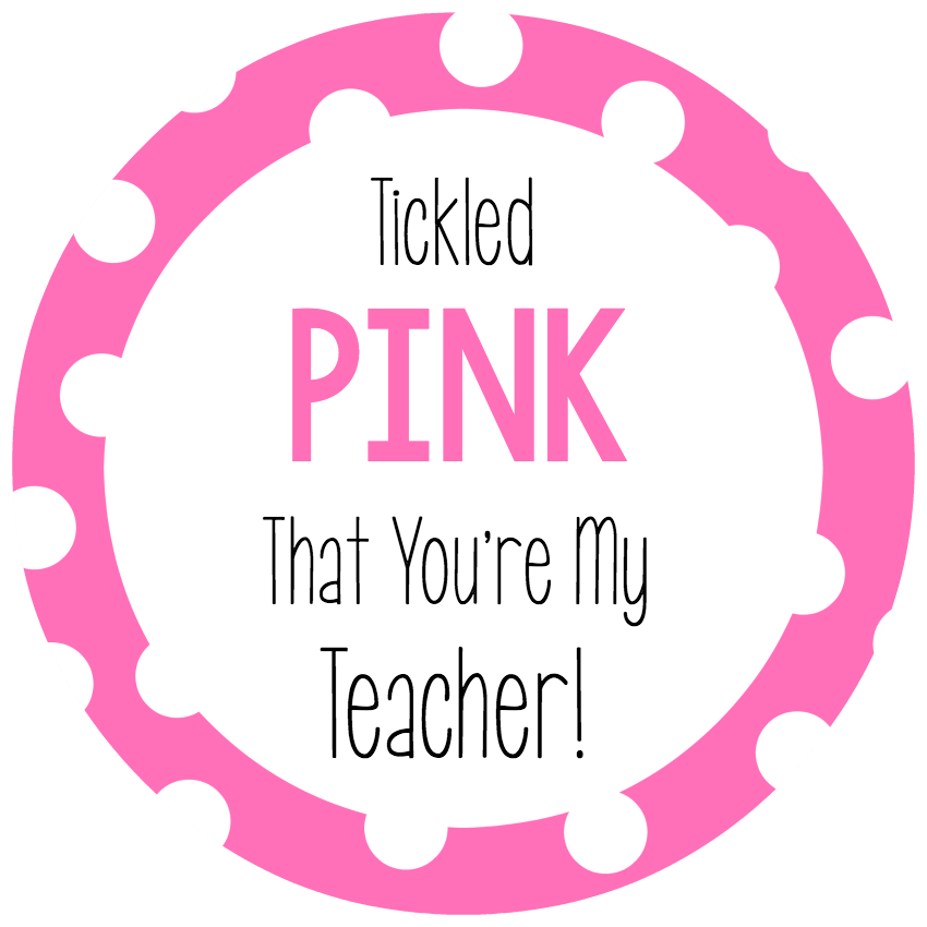 Tickled Pink Teacher Gift Tags
