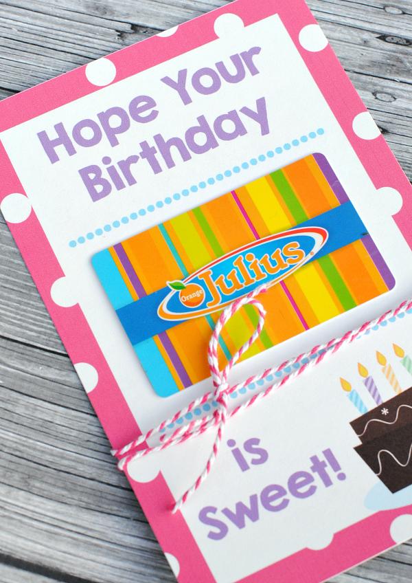 Printable Gift Card Holders