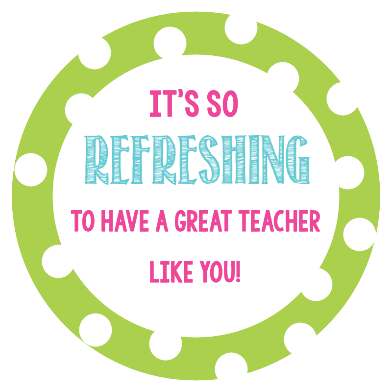 photo relating to Teacher Appreciation Printable Tags named Clean and Enjoyment Instructor Reward in just a Cup Exciting-Squared