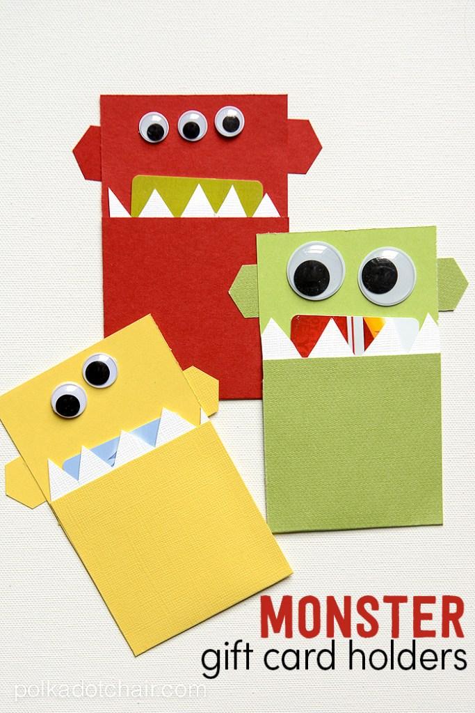 Monster Gift Card Holders