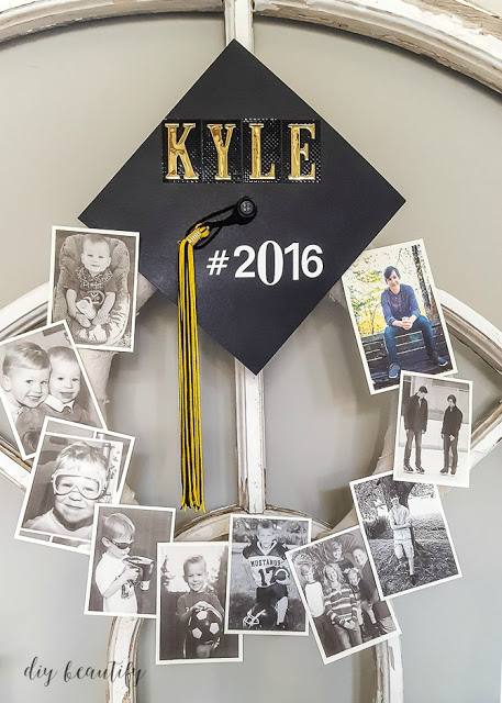 Wreath Decoration Idea for Graduation Party