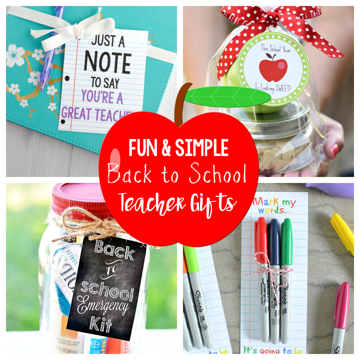 Fun and Simple Back to School Teacher Gifts