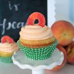 Delicious Peach Cupcakes