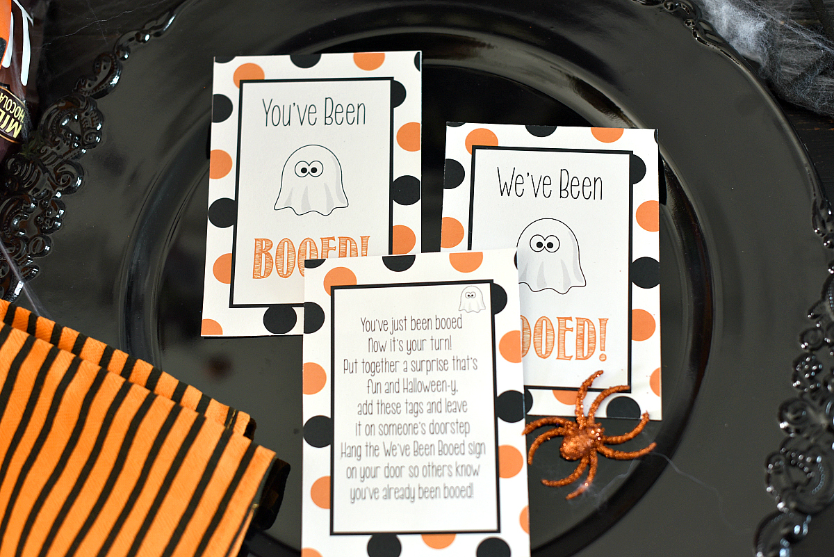 image regarding You Ve Been Booed Free Printable known as Youve Been Booed - Lovable No cost Printable Tags Halloween