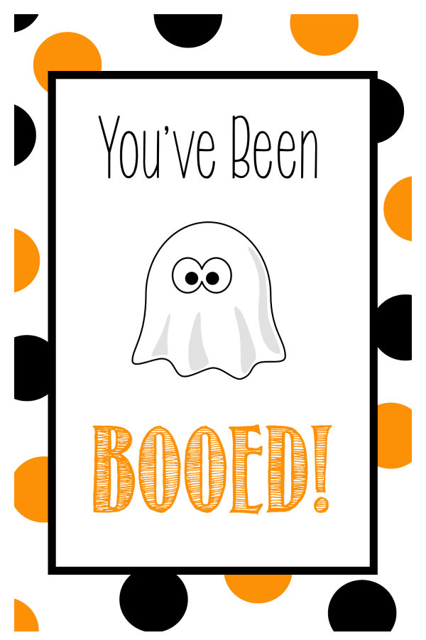 Free Printable You've Been Booed Tags for Halloween