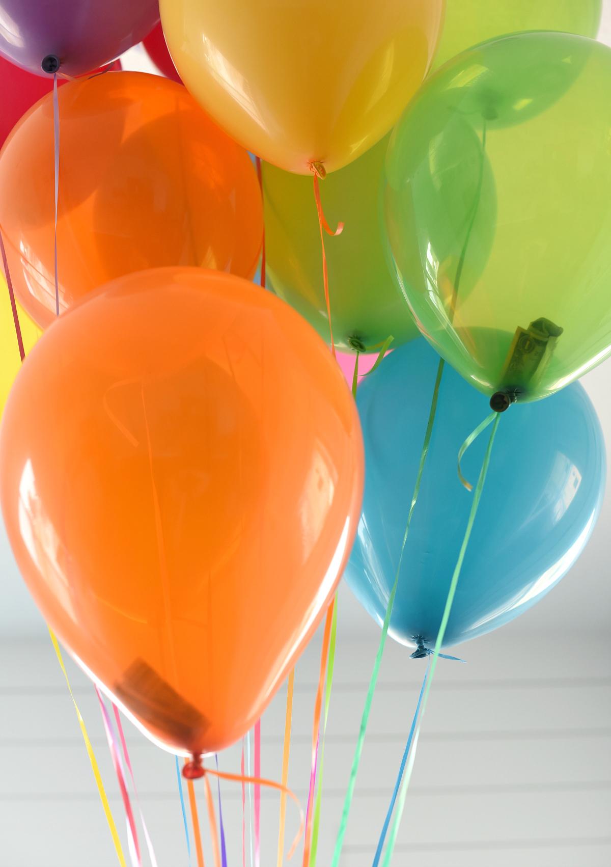 Money Gift Ideas-Birthday Balloons