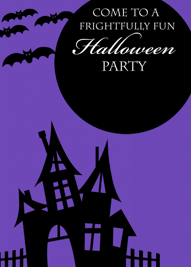 It is an image of Dashing Free Halloween Invitation Templates Printable