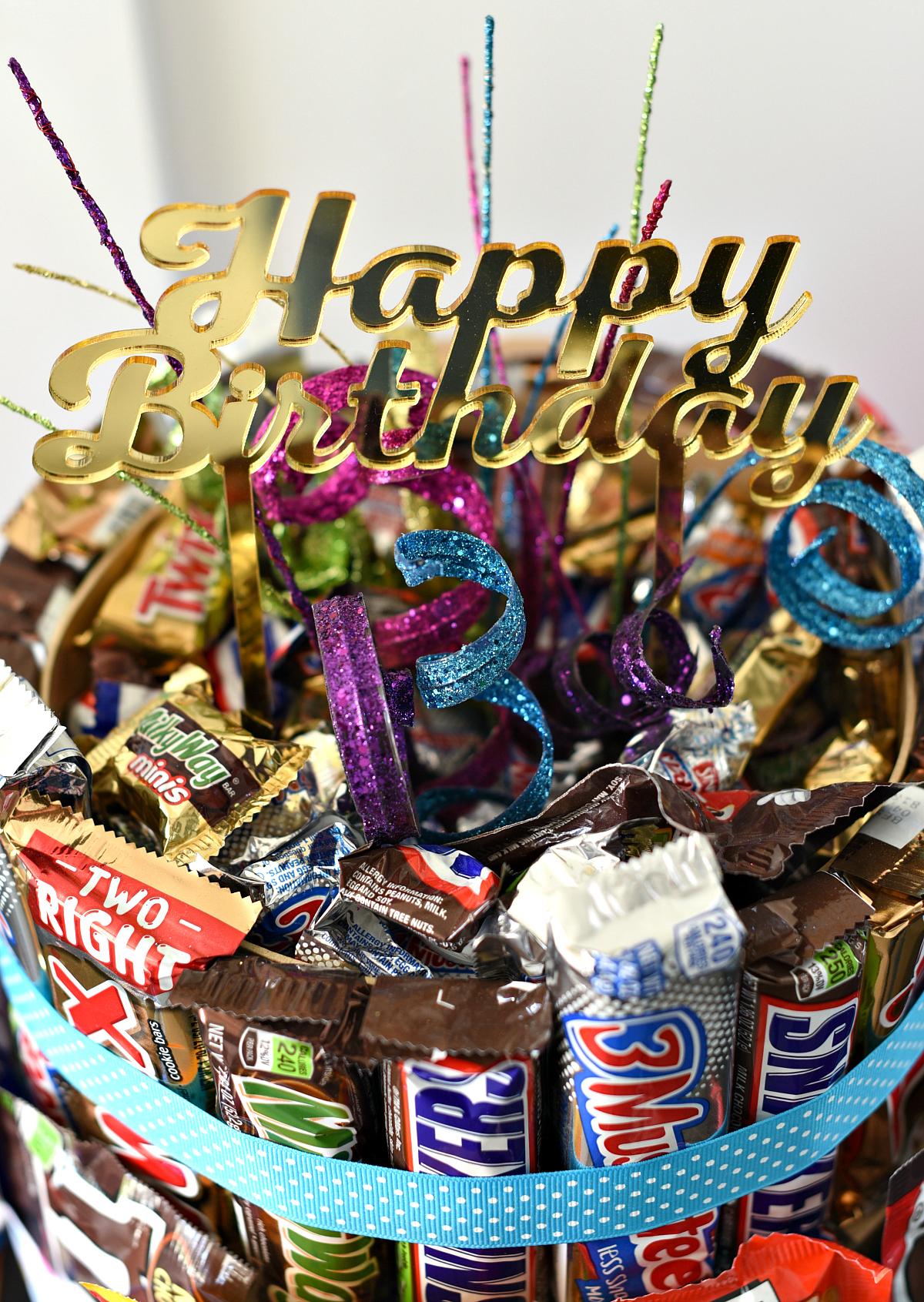 Chocolate birthday gift idea
