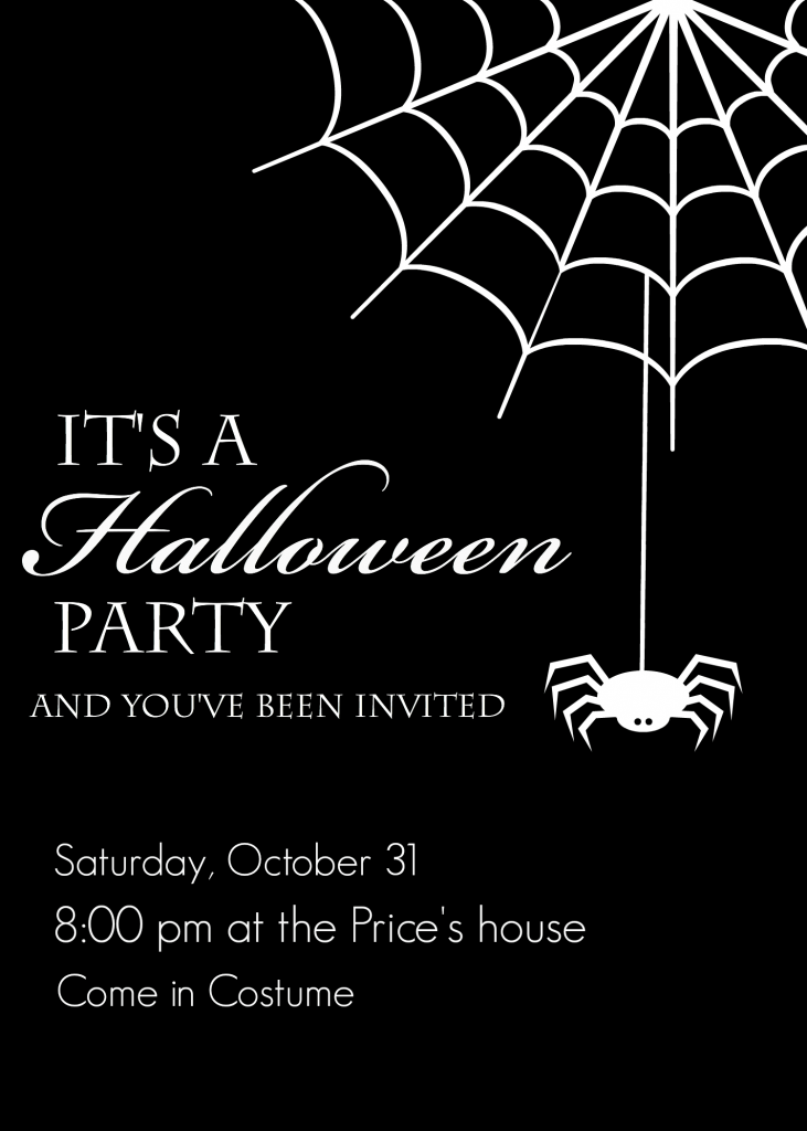 It is a graphic of Impeccable Free Halloween Invitation Templates Printable
