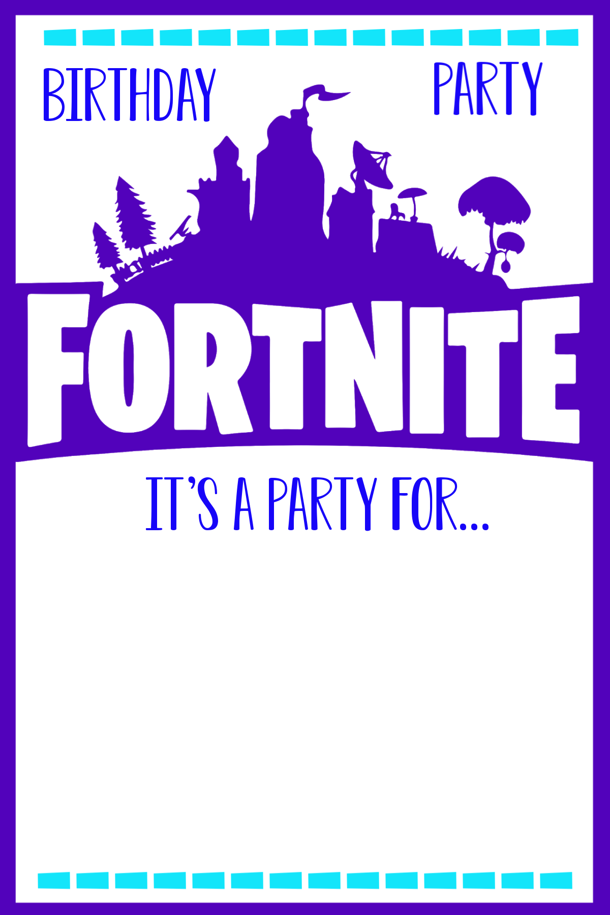 graphic relating to Fortnite Birthday Card Printable identified as Pleasurable Fortnite Birthday Get together Enjoyment-Squared