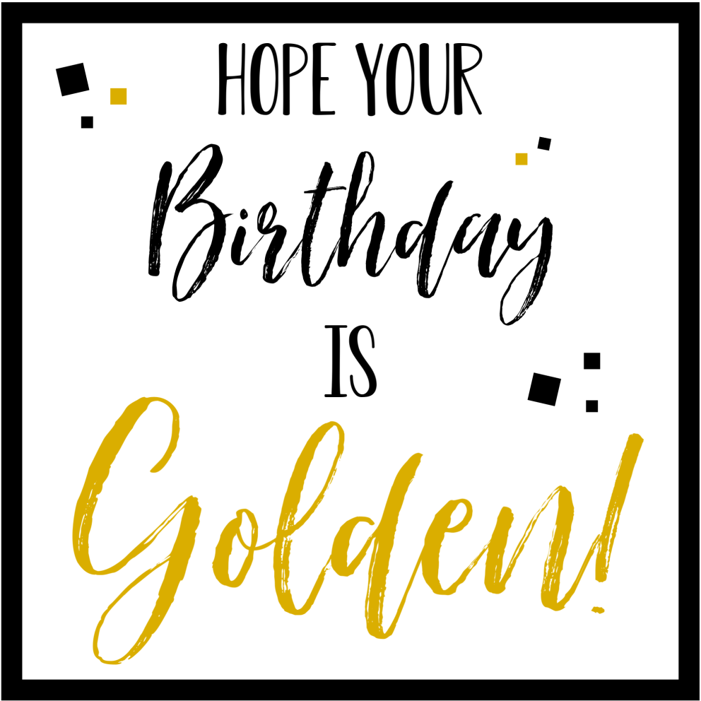 Golden Birthday Gift Tags