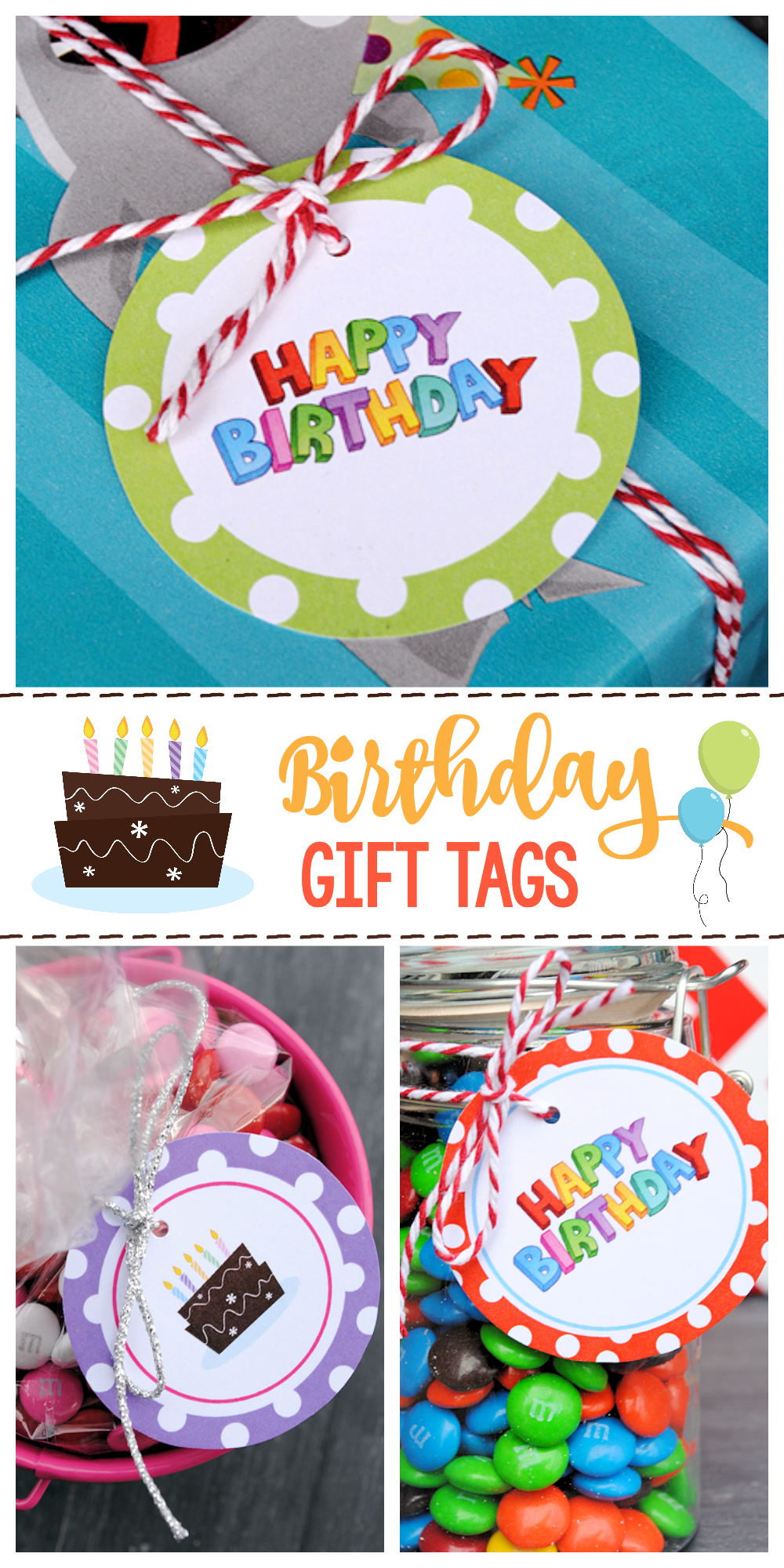 photograph about Happy Birthday Tag Printable named Totally free Printable Birthday Present Tags Enjoyable-Squared