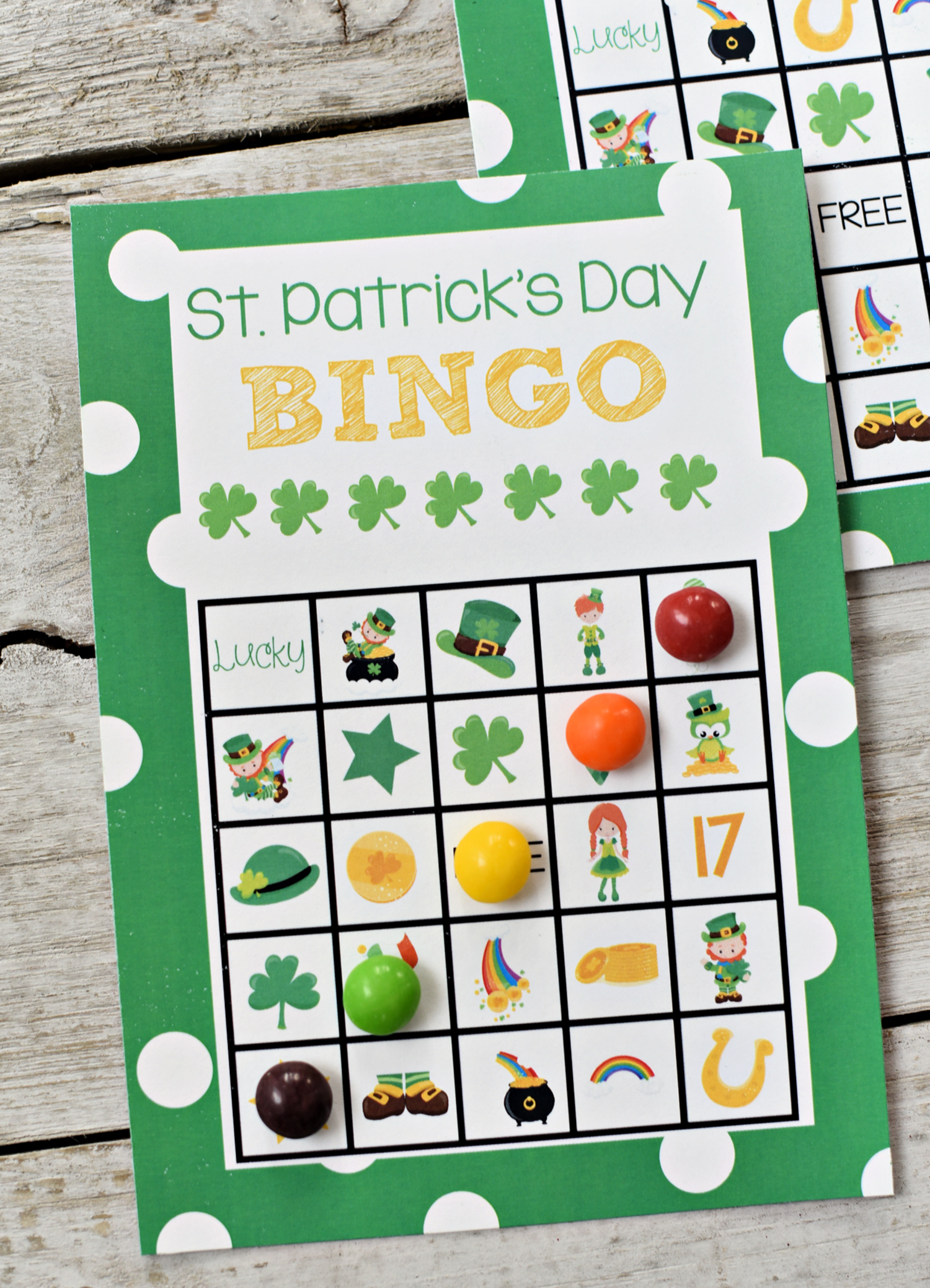 St. Patrick's Day Bingo Game to Print and Play with the kids