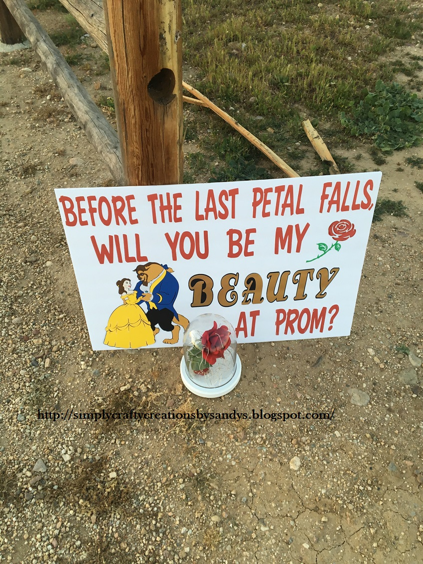 Beauty and the Beast Promposal