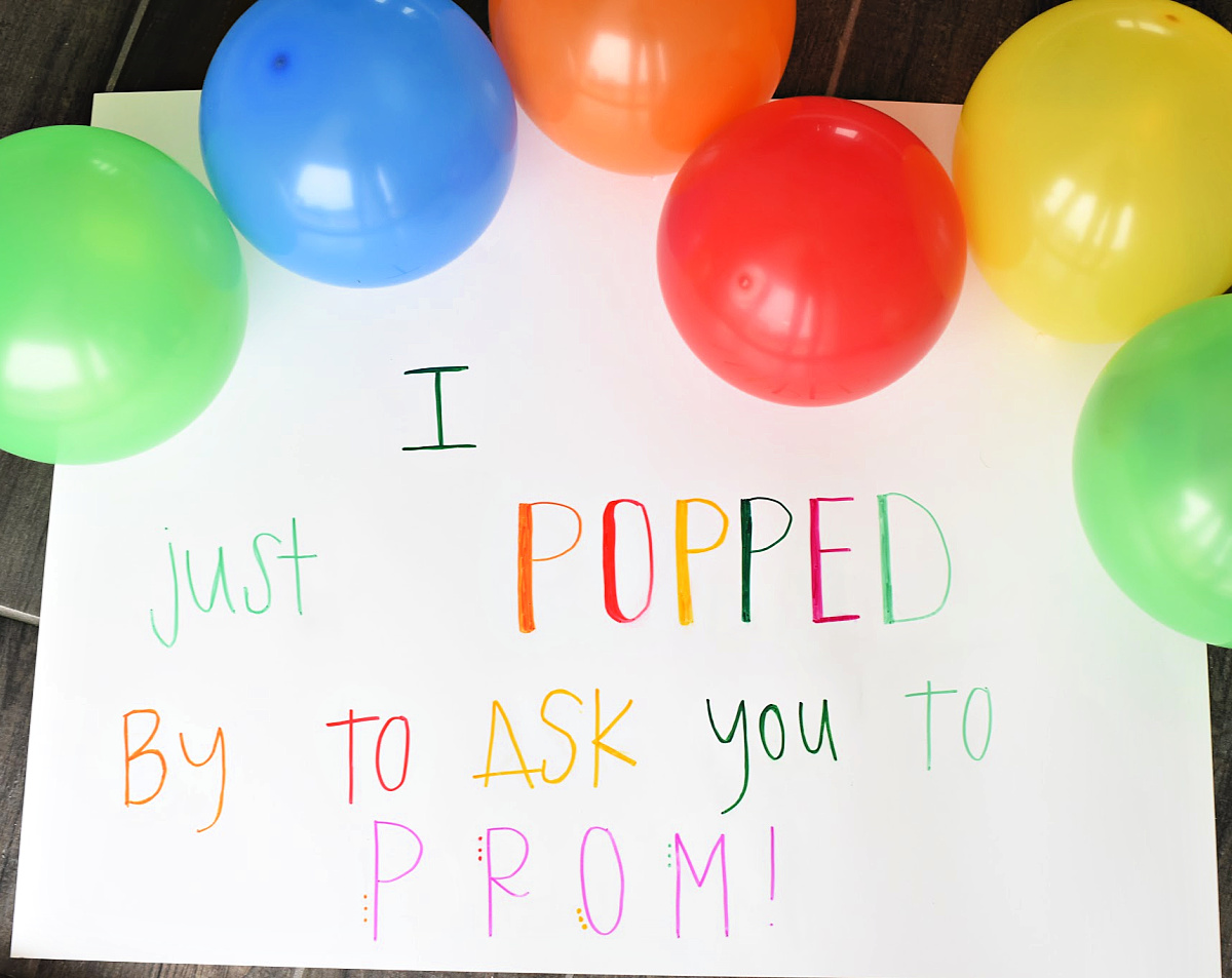 Simple Balloon Promposal Idea