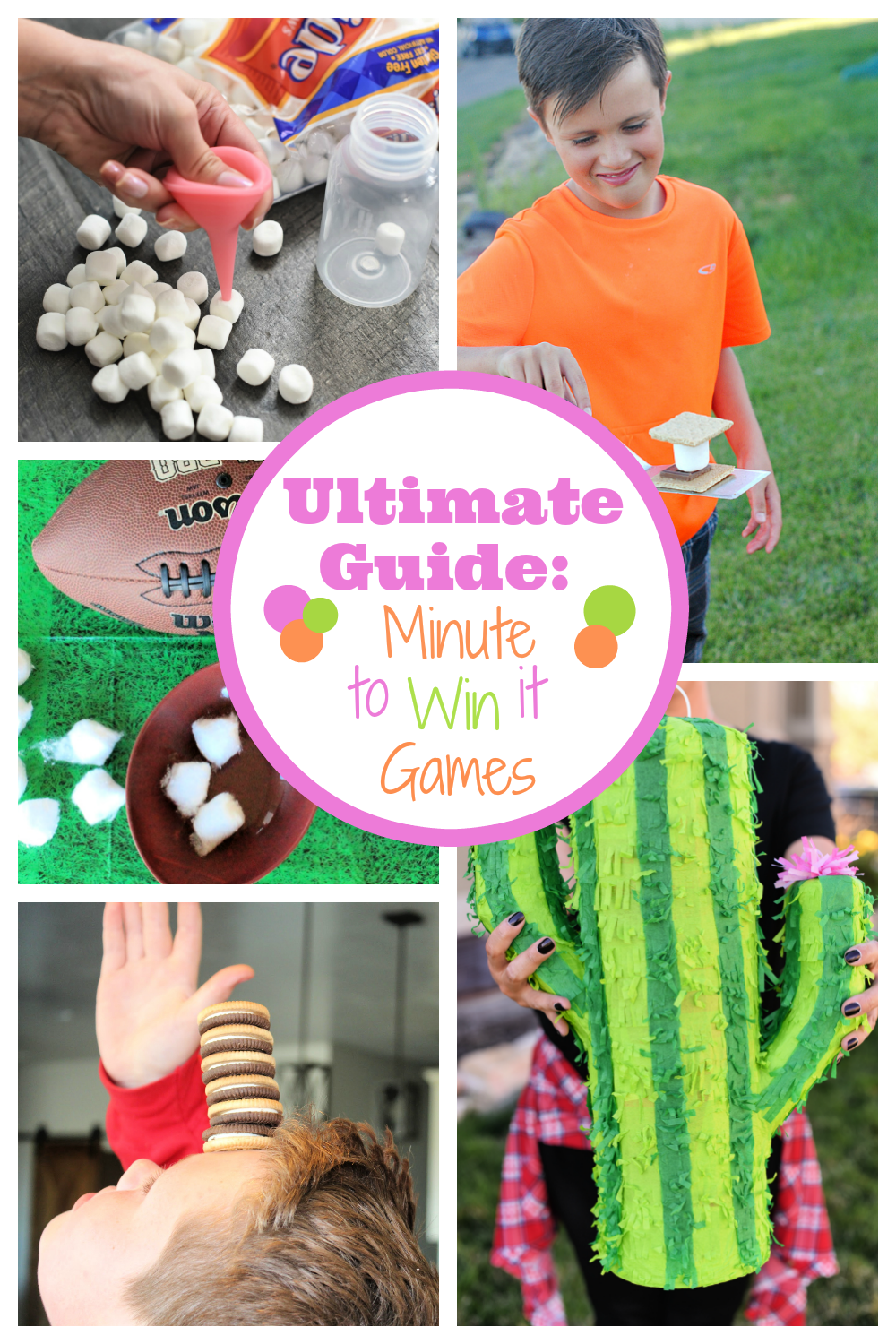 Fun Minute to Win it Games-Minute to win it game ideas for all ages, all holidays and any occasion you're looking for! Perfect party games for any occasion! #minutetowinit #partygames #partyideas #games #gamesforkids