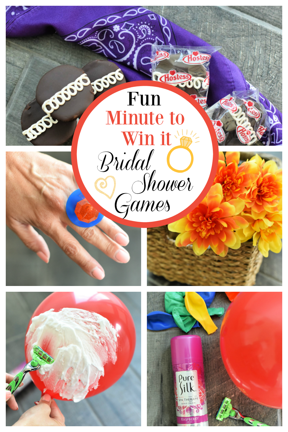 Bridal Shower Minute to Win it Games. Fun games to play at any bridal shower. #bridalshowergames #minutetowinitgames #fungames #bridalshowers