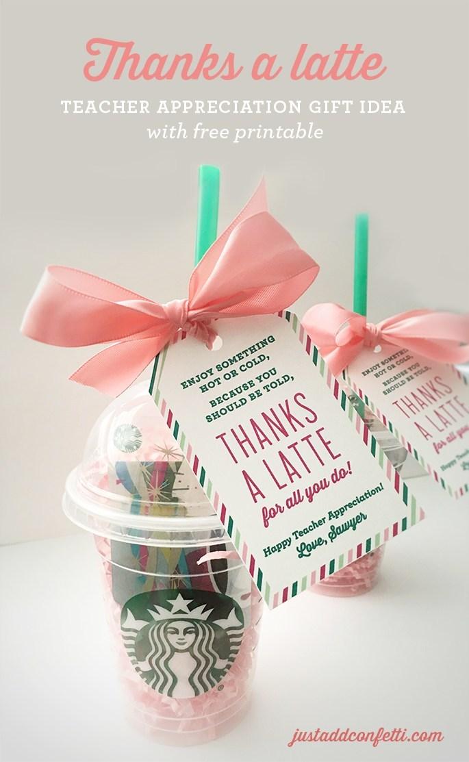 Latte Teacher Gift
