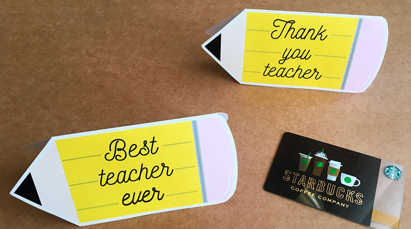 Teacher Gift carder Holder