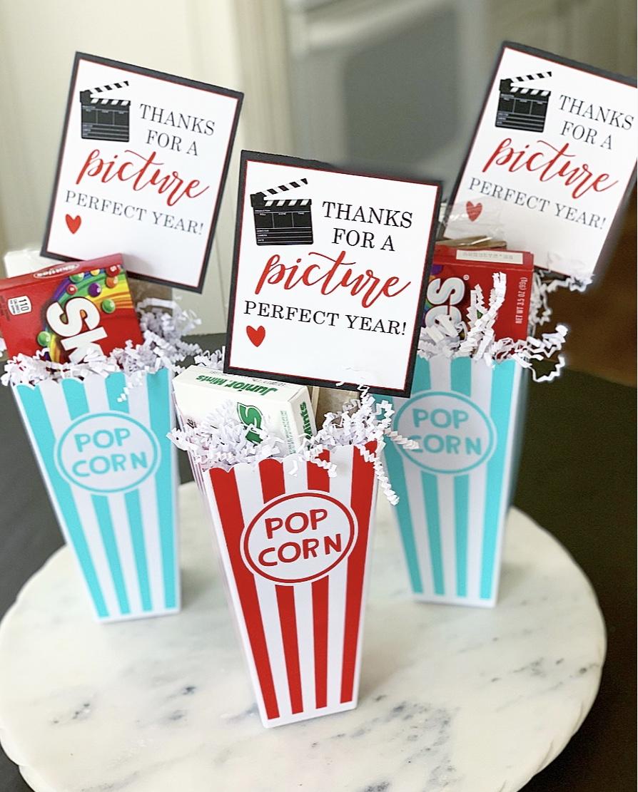 Popcorn Themed Teacher Gift