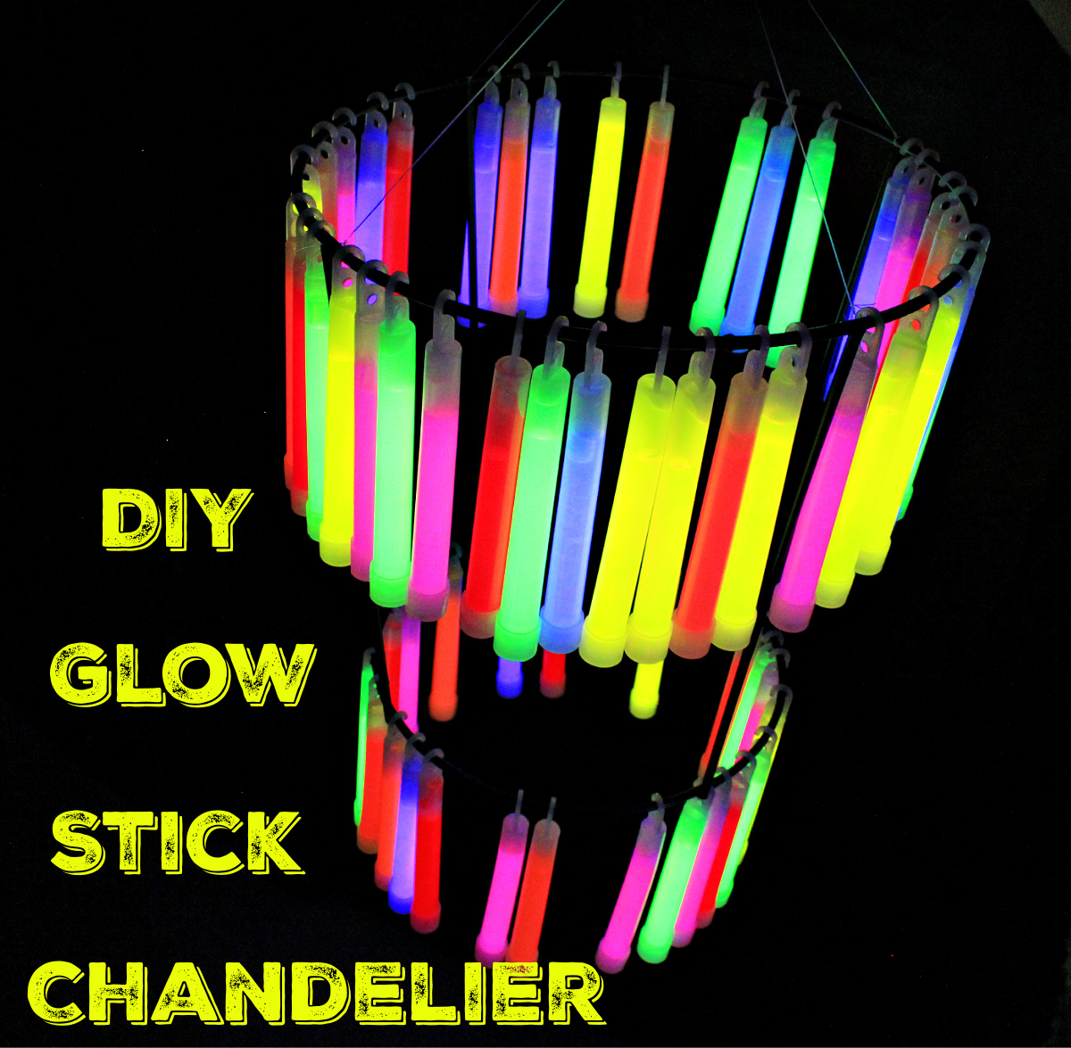 DIY Glow stick chandelier