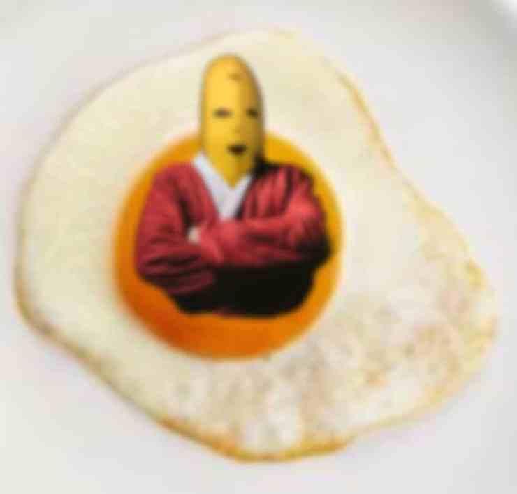 バナナがオレンジ色のイメージ写真