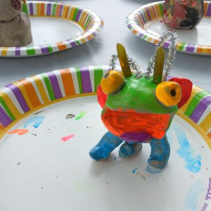 Clay Pinch Pot Monster - Pottery Party Idea
