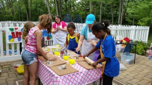 10th Birthday Party Celebration - Making Clay Sculptures