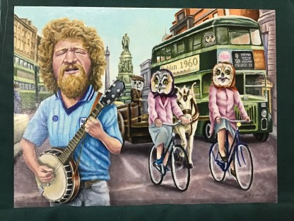 Dublin in the rare owl times