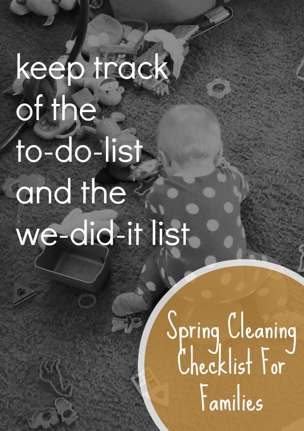 The #Spring Cleaning Checklist to keep track of the to-do-list and the we-did-it list! @FunAsYouGrow