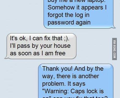 Caps lock is ON